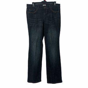 Liz & Co Womens  Straight Leg Denim Jeans 10 P